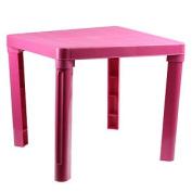 Kids Children Durable Plastic Table Pink Home Furniture Desk Reading Study