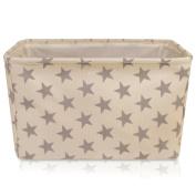 Cream Star Canvas Storage Basket - High Quality Basket For Household Storage X X