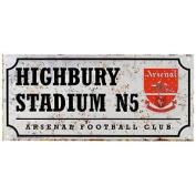 Arsenal Fc Official Retro Football Street Sign