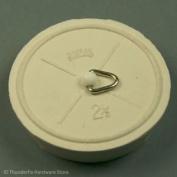 "Sink Bath Plug Rubber White 63mm - 2 1/2"" - 2 1/2 Inches By Thunderfix"