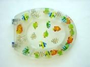 Adob 41341 Transparent Polyresin Toilet Seat With Fish Design