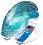 Cornat Ksdsc411 3d Wave Chrome Toilet Seat