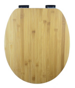 Eisl Bamboo Wood Core Toilet Seat With Real Surface And Automatic Lowering – Of