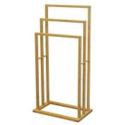 Bamboo Free Standing 3 Bar Towel Rail Bathroom Storage Rack Holder Floor Stand