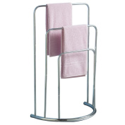 Towel Stand 3 Tier Holder Freestanding Bathroom Rail Bar Silver Stainless Steel