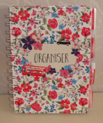 "A6 Organiser To Do Planner Notes Contacts Ditsy Flowers ""i Love London"" Range"