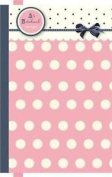 Girls Spots Stripes & Bow Pink Hard Cover Lined Paper A5 Notebook 160 Pages