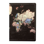 Navy Blue Man Of The World A5 Notebook Pad Map Journal Stationery Vintage