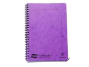 Lilac A5 Europa Notemaker Feint Ruled Notebook Spiral Bound Perforated 120 Pages