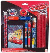 Disney Cars 3 Super Stationery Set Rubber Pencils Pens Ruler Note Pad Highligter