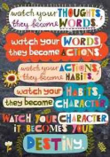 Watch Your Thoughts Pop! Chart - Classroom Motivational Poster