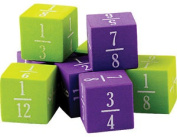 Foam Fractions Dice - Maths Teaching Resources