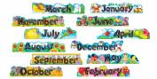 Alpha-beads 12 Monthly Headers Classroom Display Banner Set