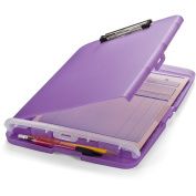 Officemate Slim Clipboard Storage Box, Purple, A4