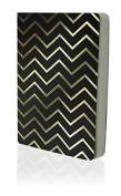 Go Stationery Shimmer A6 Gold Chevron Notebook - Black