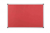 Bi-office 1200 X 1200 Mm Maya Aluminium Frame Felt Board - Red