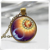 Sun and Moon Necklace Celestial Necklace Sun Necklace