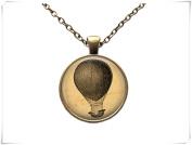 Vintage jewellery Steampunk necklace Air Balloon pendant