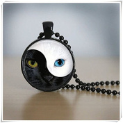 Ying Yang cat Necklace Cat Necklace Cat Jewellery
