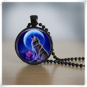Wolf Necklace moon Jewellery Black Necklace