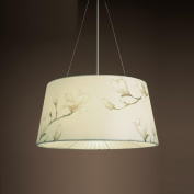 AMZH Countryside Style Metal Fabric Chandelier Single Head Bedside Handmade Noodles material Lampshade Bedroom Pendant Lamp E27 110V 220V , 15-d1067-a