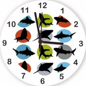Shark Clock, Boys clock, Kids Clock, Boys Wall Clock