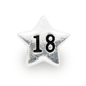 Liberty Charms Silver Plated 18th Star Charm Will Fit Most Charm Bracelets
