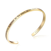 "SOLOCUTE Cuff Bangle Bracelet Engraved ""The Story Of Friendship Is Written On The Pages Of The Heart. I Am a Better Me Because Of You"" Inspirational Jewellery"