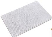 wendana Bath Mat Non Slip Absorbent Bath Rug Fluffy Microfiber Bath Carpet Mat Bathroom Mat White Shower Rug 50cm x 80cm