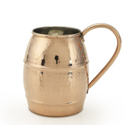 Kuprum Hand Hammered Solid Natural Copper Moscow Mule Cocktail Beer Drinking Mug with Unique Hammer Marks Extra Large 1010ml