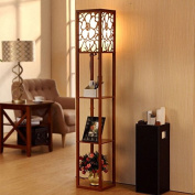 PIGE Classic Chinese Style Living room bedroom Study Room Led Hollowed-out Carving E27 Led Wood Floor Lamp 26*26*160cm