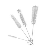 Lumanuby 4pcs/Set Stainless Steel Clean Brush Big Mid Small Bottle Cleaning Brushes Cleaner Laboratory Supplie Ideal For Cleaning Bottles, Teapot, Straws And Other Items