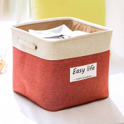 Mirayen Modern Style Fabric Nursery Hamper Storage Basket Foldable Storage Cube Open Storage Cabinet for Bathroom and Office