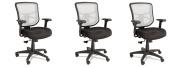 Alera Elusion Series Mesh Mid-Back Swivel/Tilt Chair, FVMAPc 3 Pack