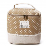 Amrka Multifunction Travel Linen Cosmetic Makeup Toiletry Bag Organiser Storage Case