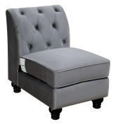 Furniture of America CM6158GY-CH Jolanda II Grey Optional Chair Not Applicable, Normal