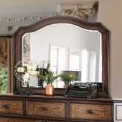 Emmaline Transitional Style Bevelled Mirror Warm Chestnut