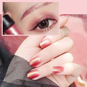 24 Pcs Elegant Party Solid Red Reflection Square Short Full Cover False Nail with Glue Stickers and Mini File