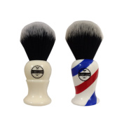 Synthetic Men's Shaving Brush By Haircut & Shave Co.– Durable, . Lathering Travel Brush- Ergonomic Handle, Cruelty-Free Soft Bristles, Odourless, Easy-To-Clean, Mess-Free Grooming,