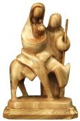 Flight into Egypt figurine Bethlehem Olive wood contemperary art