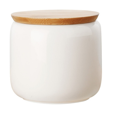 Maxwell & Williams White Basics Canister Bamboo Lid 750ml