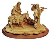 Flight into Egypt figurine Bethlehem Olive wood Christian figurines