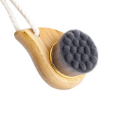 Rosette Bamboo Charcoal Fibre Face Brushes Soft Facial Cleanser Facial Skin Care Tool pore cleaner Exfoliate Brush Bamboo Handle