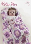 Peter Pan Baby Blanket & Doughnut Toy Crochet Pattern 1293 DK