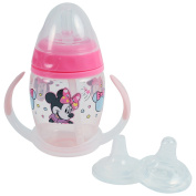 Disney Minnie Mouse 6 Piece Grow with Me Sippy Cup , Baby Pink