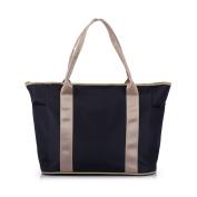 Lightweight Nappy Bag-Classic Weekender Tote Hand Bag-Polyester Baby Satchel Shoulder Bag Dark Blue