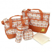 Baby Infant Nappy Nappy Handbag Multifunctional Bottle Holder Food Mummy Bag 5pcs Set