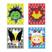 Superheros Decor, Baby Boy Nursery Decor, Iron Man, Hulk, Thor, Wolverine, Superhero Wall Art, Set of Four 20cm x 25cm Print