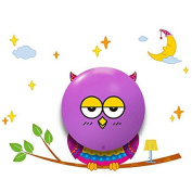 Sweet Dreams Owl night light with wall sticker 3XAAA battery operated