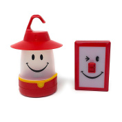 Set of Red Smile LED Lantern and Switch LED Light Portable Battery Operated Easy to Use Designed for Kids by Time Concept